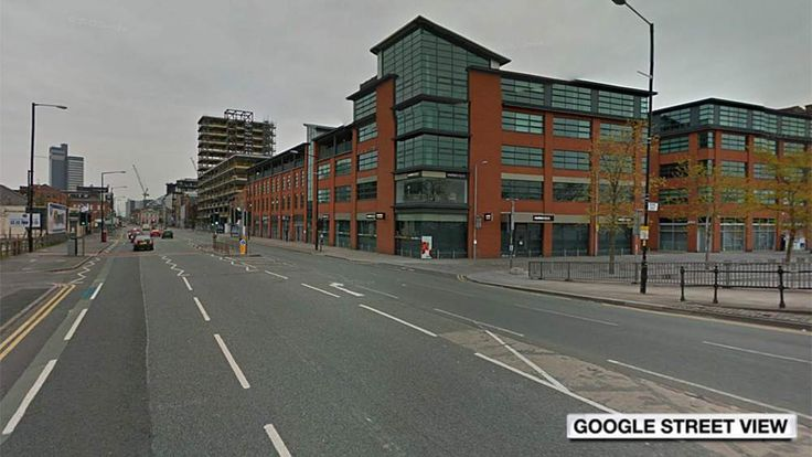 The intersection of Great Ancoats Street and Redhill Street in Manchester