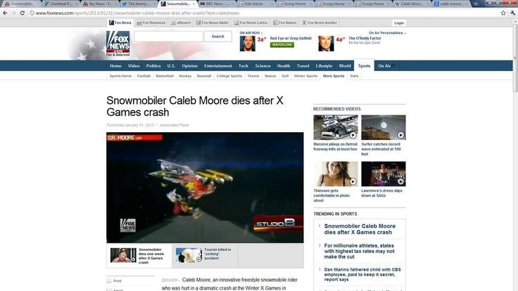 Snowmobile rider Caleb Moore before his deadly crash at the Winter X Games