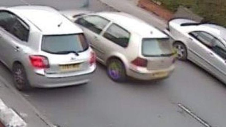 The VW which police are trying to trace in connection with a mugging