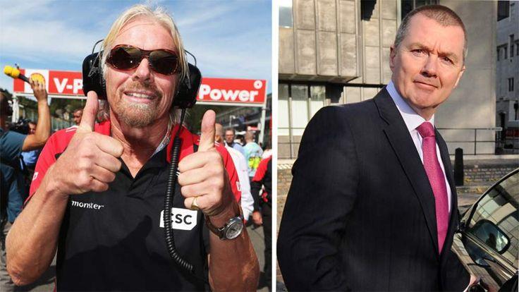Virgin Atlantic's Sir Richard Branson and IAG's Willie Walsh