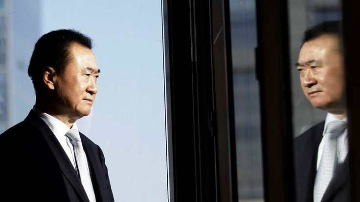 Wang Jianlin, chairman of Dalian Wanda Group, poses for a photo during an interview at his office in the company's headquarters in Beijing