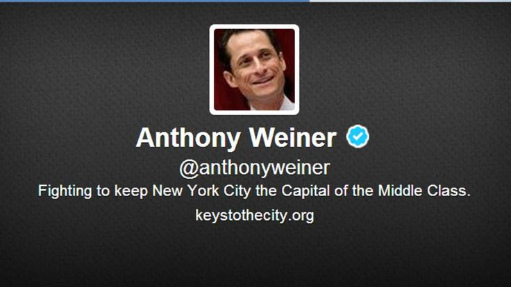 Anthony Weiner launches new Twitter account