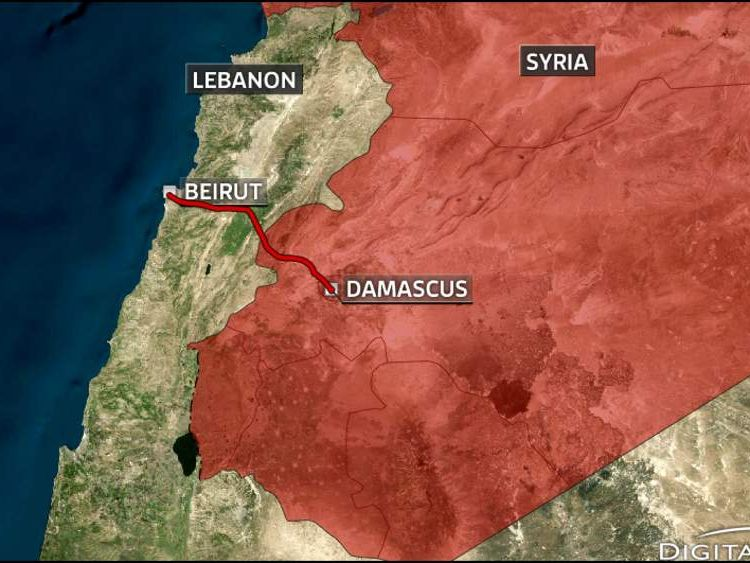 The road from Beirut to Damascus