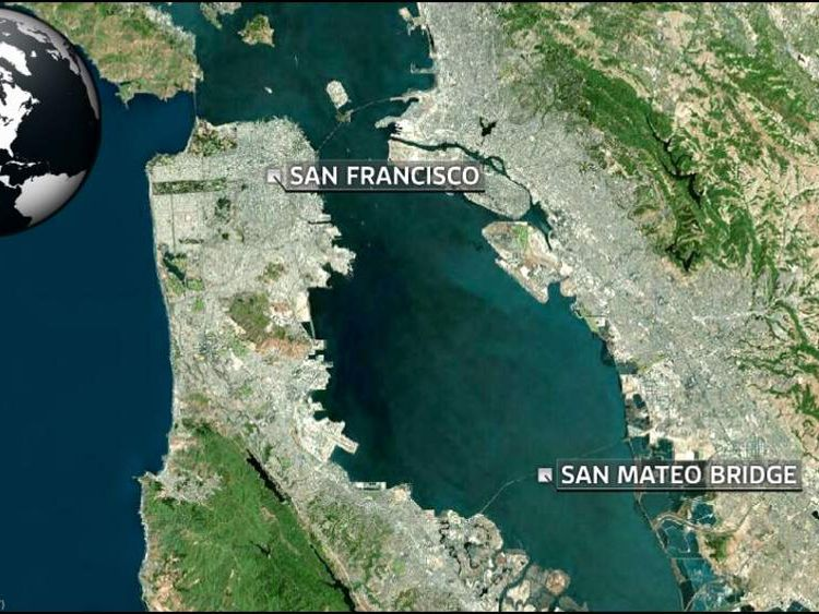 San Mateo bridge map