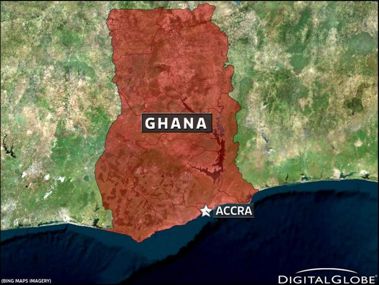 Map of Ghana and Accra