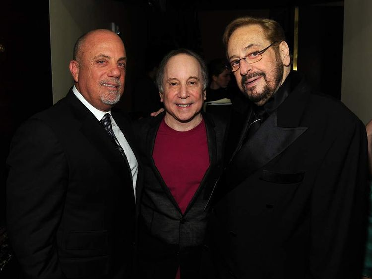 Billy Joel, Paul Simon and Phil Ramone in 2010