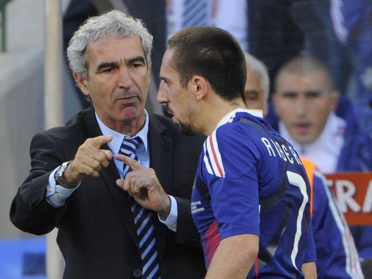 Raymond Domenech and Franck Ribery