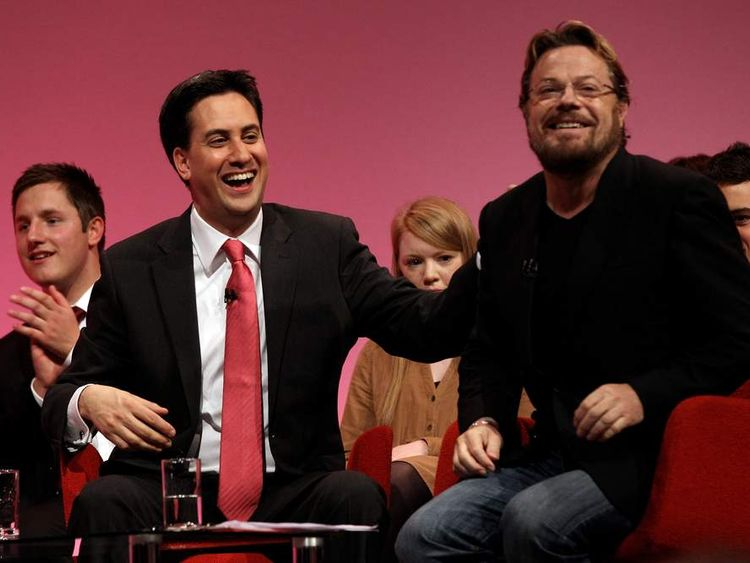 Eddie Izzard and Ed Miliband Labour party conference 2010