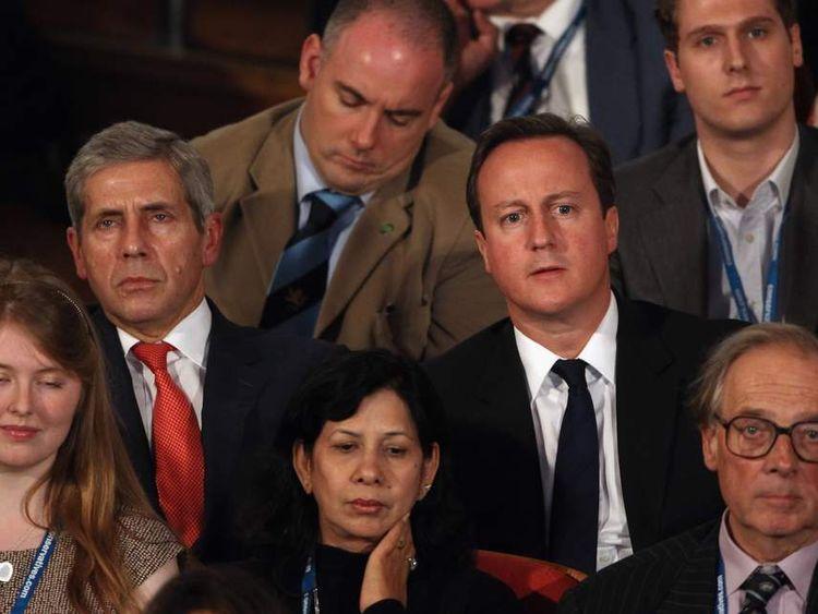 Stuart Rose and David Cameron.
