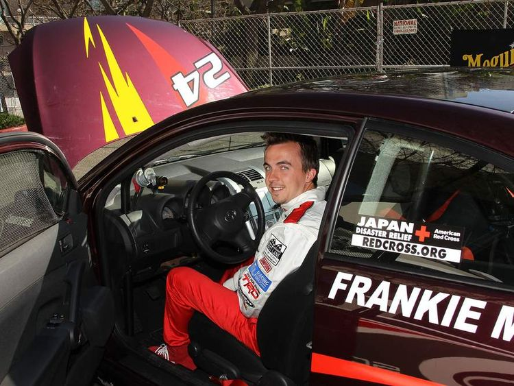 Frankie Muniz In Racing Car