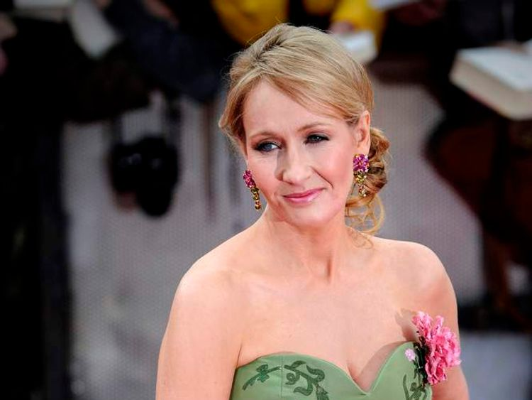 JK Rowling at the premiere of Harry Potter and the Deathly Hallows Part 2