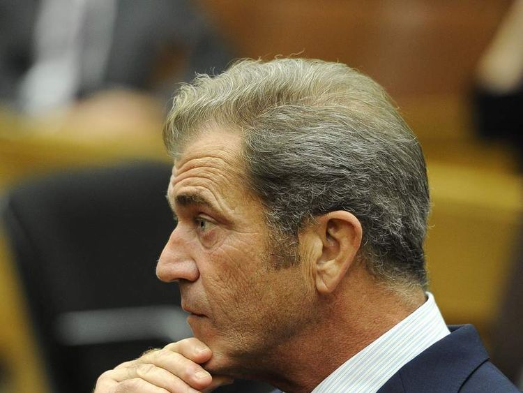 Mel Gibson in court in LA during legal battle with ex-girlfriend Oksana Grigorieva
