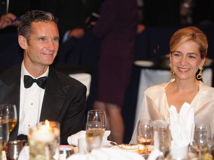 Princess Cristina of Spain with husband Inaki Urdangarin