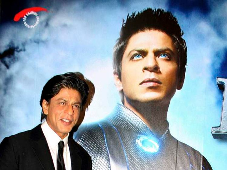Indian Bollywood actor Shah Rukh Khan promotes a film in 2011.