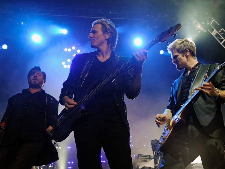 Duran Duran perform at the The Hard Rock Hotel & Casino