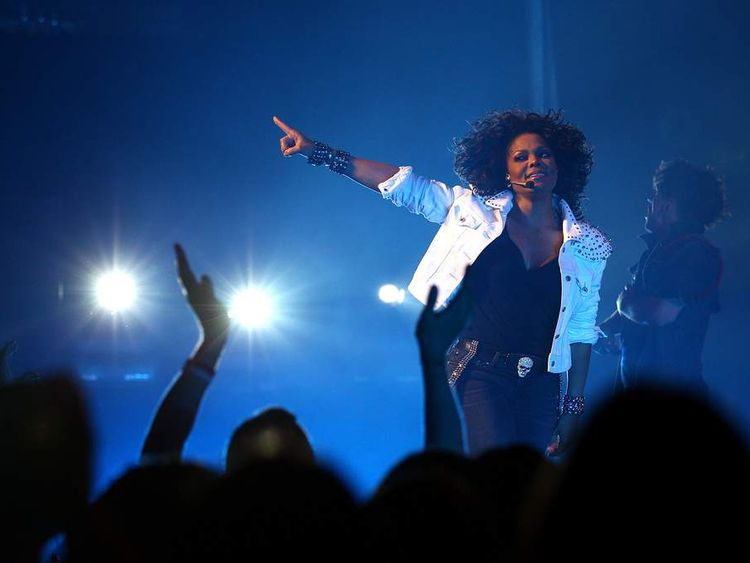 Janet Jackson performing in Sydney
