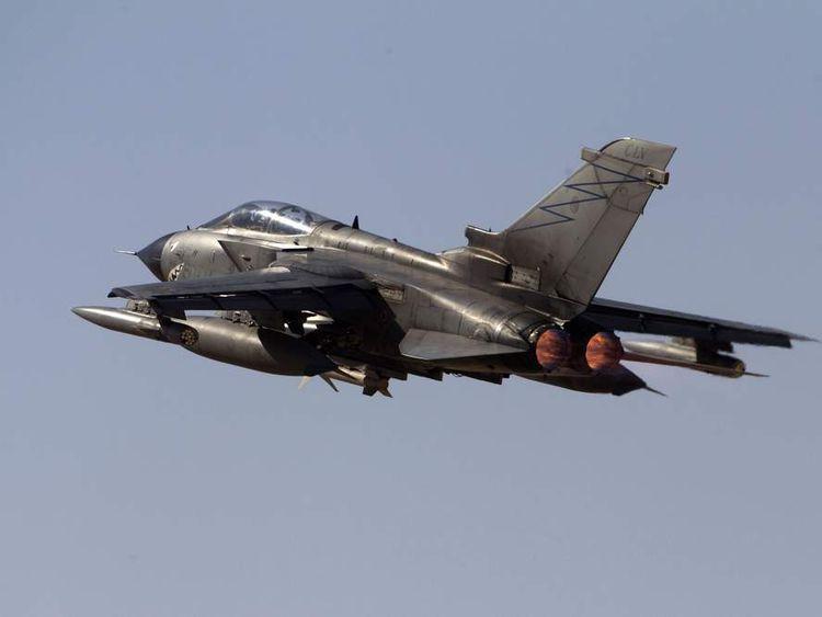 An Italian Air Force Tornado fighter jet