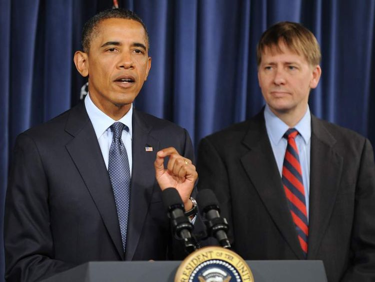 U.S. President Barack Obama Visits Consumer Financial Protection Bureau