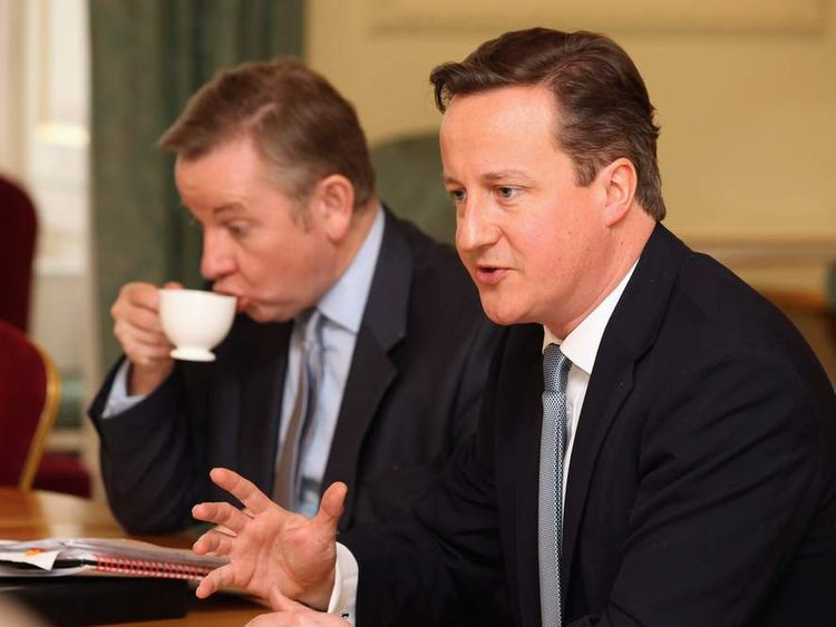 Prime Minister David Cameron and Education Secretary Michael Gove.