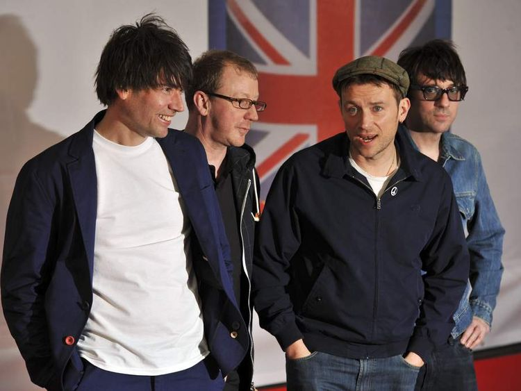 Alex James, Dave Rowntree, Damon Albarn and Graham Coxon