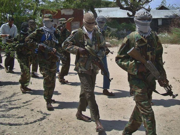 Al shabab recruits in Somalian capital, Mogadishu