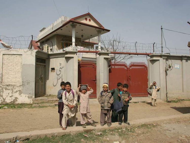 Osama bin Laden's compound in Abbotabad