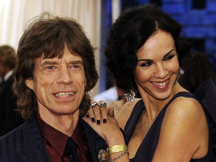 Mick Jagger and L'Wren Scott