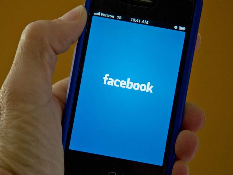 Facebook's splash screen on a mobile device