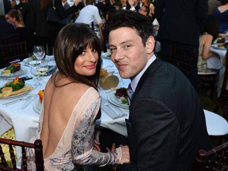Glee stars Lea Michele and Cory Monteith.