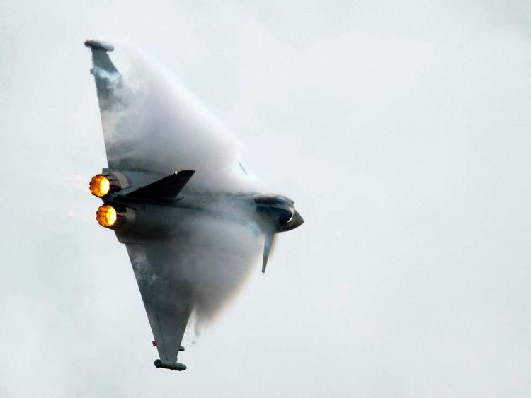 A Eurofighter Typhoon