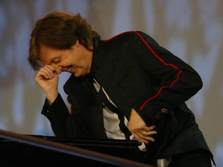 Sir Paul McCartney performs during the Opening Ceremony of the London 2012