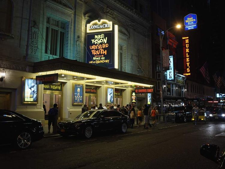 Longacre Theatre Where Mike Tyson Show Is Staged
