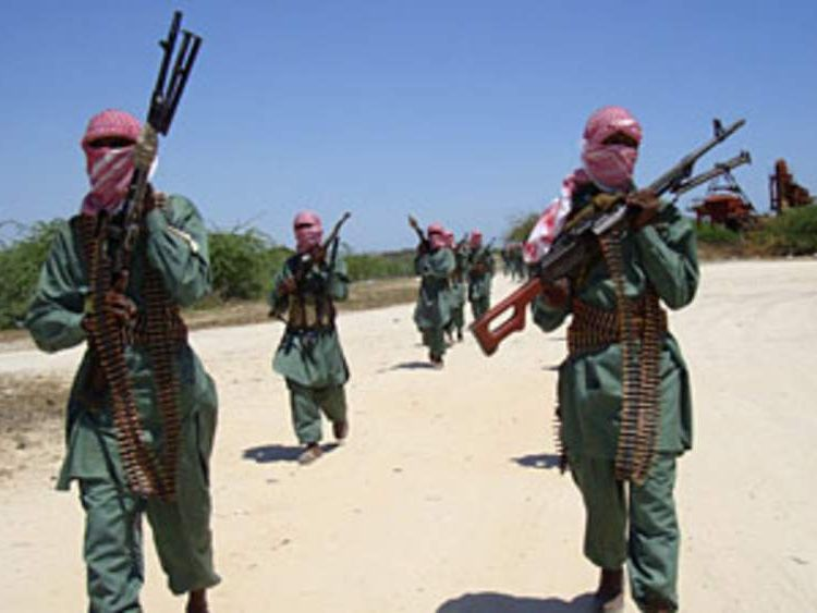 Shabab militants in Somalia