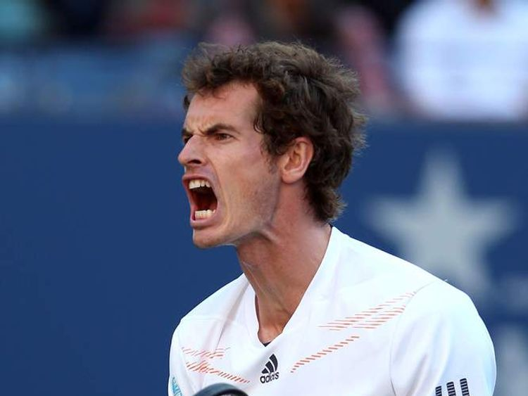 Andy Murray Celebrates Winning Point