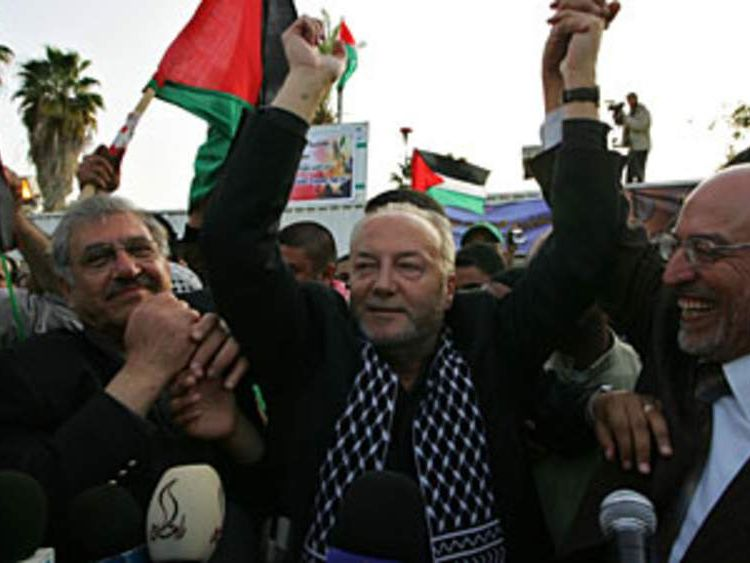 George Galloway arrives in Gaza