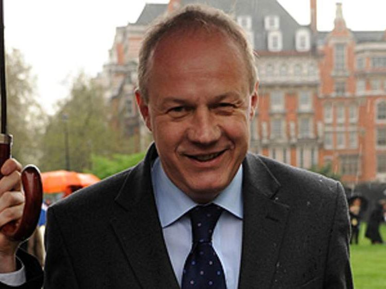 Damian Green outside Parliament after learning he will not be prosecuted over leaks