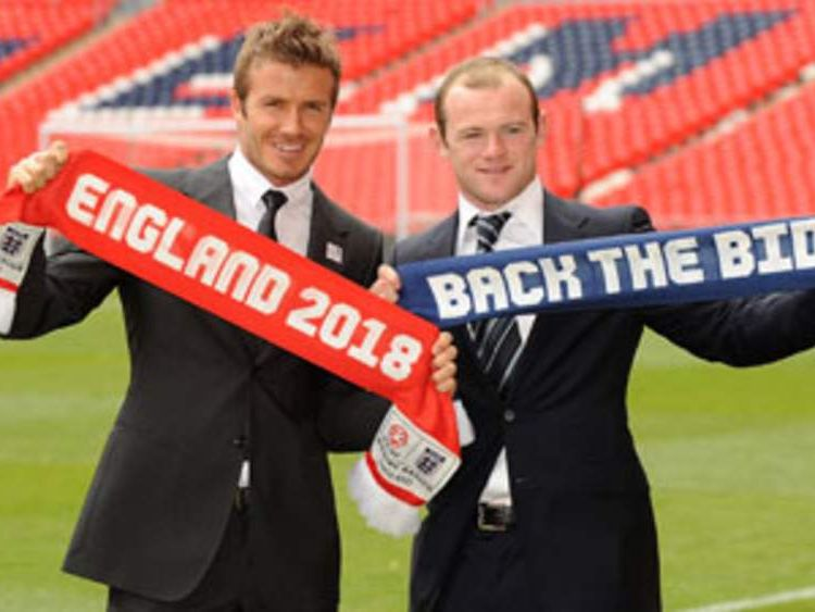 Beckham and Rooney launch England's 2018 World Cup bid