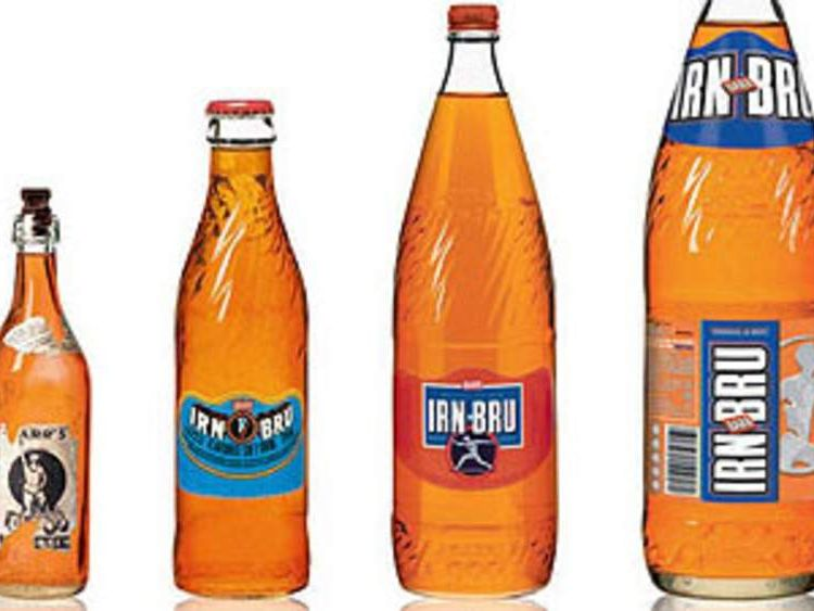 Bottles of Irn-Bru