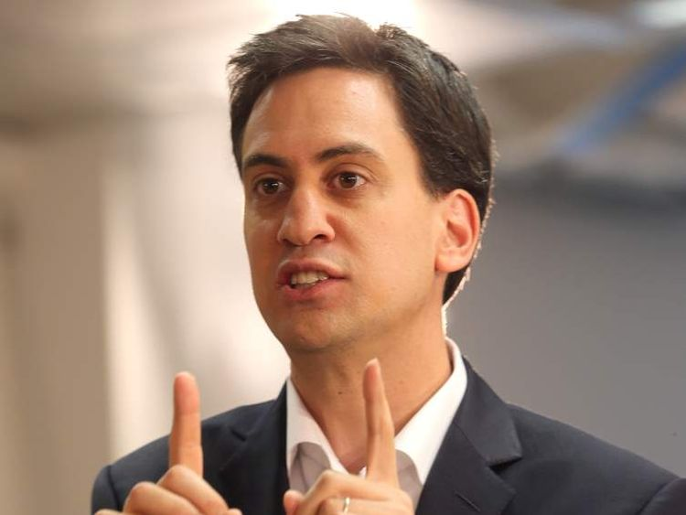 Ed Miliband at a question and answer session in Manchester.