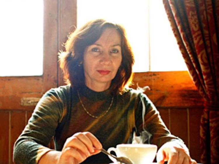 Natalia Estemirova at London's Front Line Club in 2007