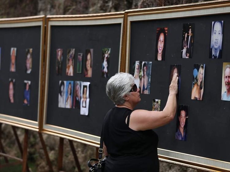 A woman at the Bali photo wall