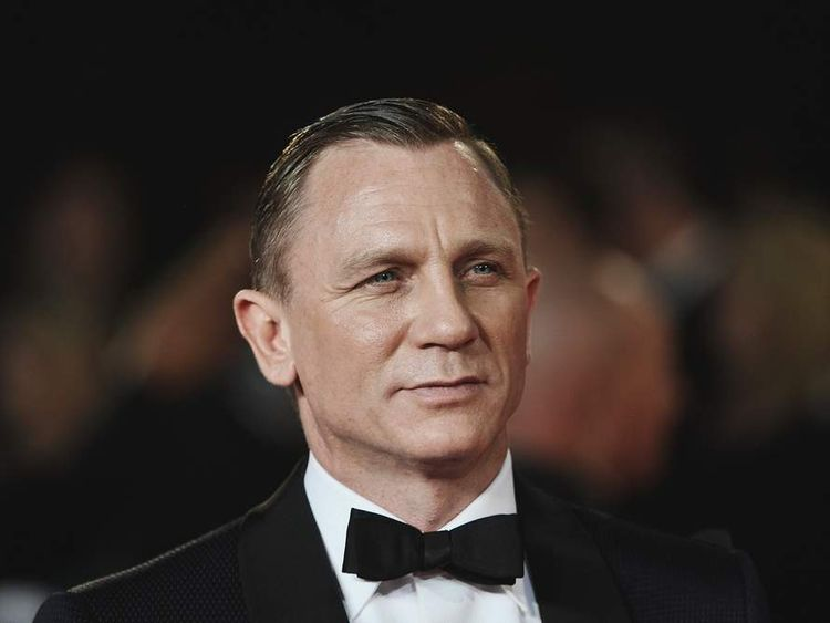 Daniel Craig at the royal world premiere of Skyfall