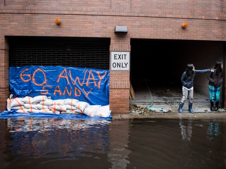 Flooded US city of Hoboken after Superstorm Sandy