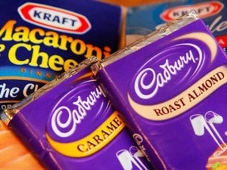 Kraft and Cadbury products