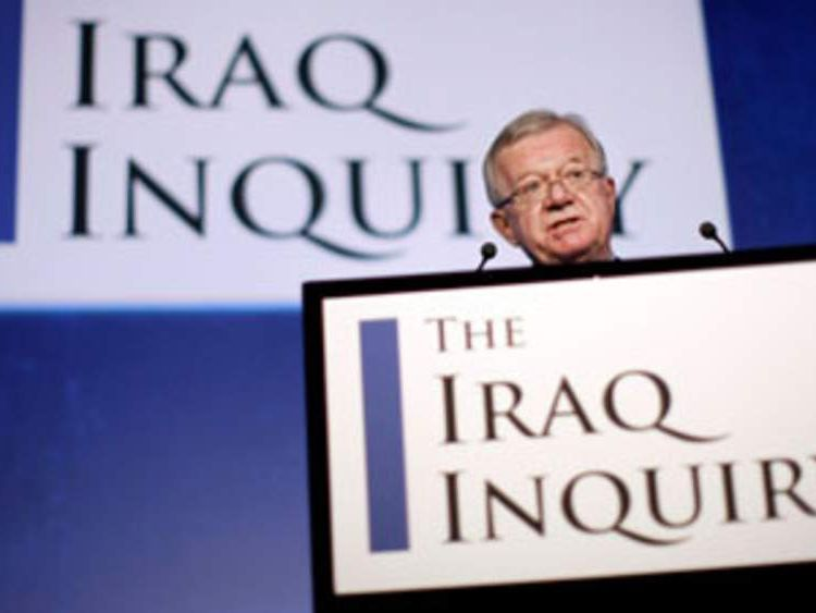 Sir John Chilcot Iraq inquiry
