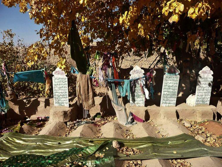 US Afghan massacre Grave Stones