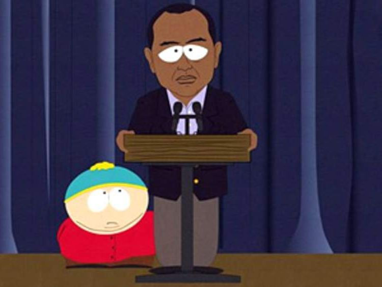 Tiger Woods South Park character