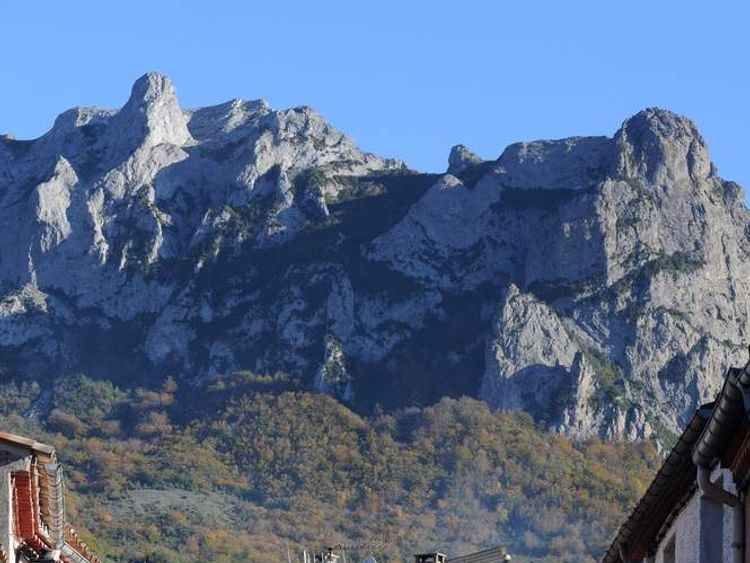 The sleepy village of Bugarach in SW France