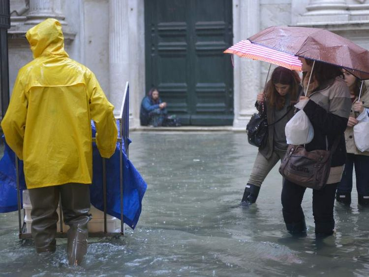 Flooding in Venice on November 11.