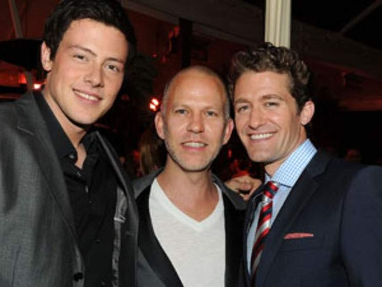 Actor Cory Monteith, creator Ryan Murphy and actor Matthew Morrison